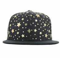 SP804 Blank Plain Snapback Cap Hat (Black & Black)