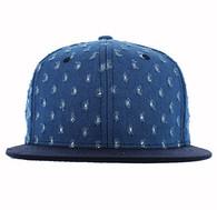 SP807 Blank Plain Snapback Cap Hat (Royal Blue & Navy)
