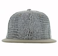 SP753 Blank Plain Snapback Cap Hat (White & White)