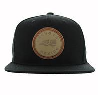 SM659 Mexico Snapback Cap (Black & Black)