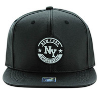 SM581 New York City Snapback (Black & Black)