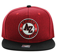 SM804 Arizona State Snapback (Red & Black)
