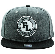 SM804 Florida State Snapback (Charcoal & Black)