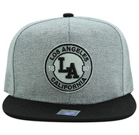 SM804 Los Angeles City Snapback (Grey & Black)