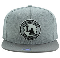SM804 Los Angeles City Snapback (Grey & Grey)