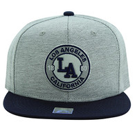 SM804 Los Angeles City Snapback (Grey & Navy)