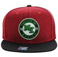 SM804 Mexico Snapback Hat Cap (Red & Black)