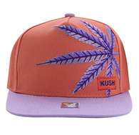SM818 Marijuana Snapback Cap (Pink & Purple)