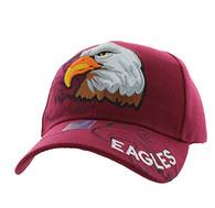VM129 American USA Eagle Velcro Cap (Solid Burgundy)