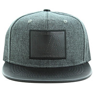 SM839 Los Angeles City Snapback (Charcoal & Black)