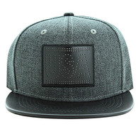 SM839 USA Country Snapback (Charcoal & Black)