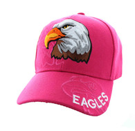 VM129 American USA Eagle Velcro Cap (Solid Hot Pink)