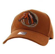 VM868 Horse & Rope Velcro Cap (Solid Texas Orange)