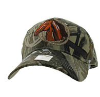 VM868 Horse & Rope Velcro Cap (Solid Hunting Camo)