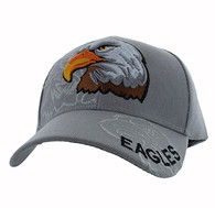 VM129 American USA Eagle Velcro Cap (Solid Light Grey)