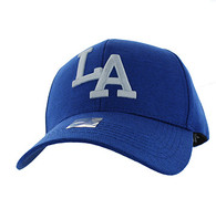 VM840 Los Angeles Velcro Cap (Soild Royal Blue)