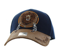 VM669 Native Pride Bear Velcro Cap (Navy)