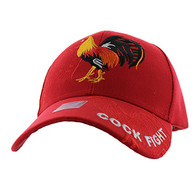 VM274 Cock Velcro Cap (Solid Red)