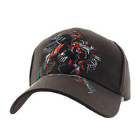 VM240 Cock Fight Ball Velcro Cap (Solid Brown)