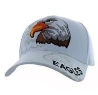 VM129 American USA Eagle Velcro Cap (Solid White)
