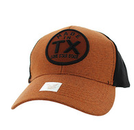 VM798 Texas Cotton Velcro Cap (Texas Orange & Black)