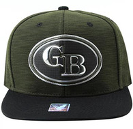SM794 Green Bay City Snapback Cap (Dark Green & Black)