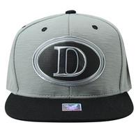 SM794 Dallas City Snapback Cap (Grey & Black)