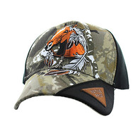 VM791 Native Pride Horse Velcro Cap (Hunting Camo & Black)