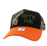 "VM711 ""Bite Me"" Mesh Trucker Cap (Black & Orange)"