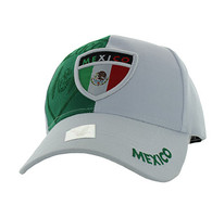VM190 Mexico Velcro Cap (White & Kelly Green)