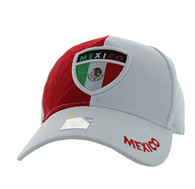 VM190 Mexico Velcro Cap (White & Red)