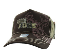 VM787 Big Buck Hunt Velcro Cap (Brown & Hunting Camo)