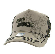 VM787 Big Buck Hunt Velcro Cap (Khaki & Hunting Camo)