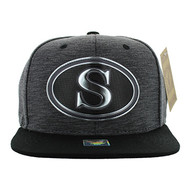 SM794 Seattle City Snapback Cap (Charcoal & Black)