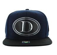 SM794 Dallas City Snapback Cap (Navy & Black)