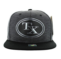 SM794 Texas State Snapback (Charcoal & Black)