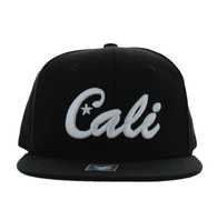 SM346 Kids Cali Cotton Snabpack Cap (Black & Black)