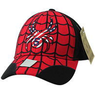 VM866 Kids Spider Cotton Velcro Cap (Red & Black)