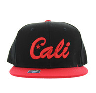 SM346 Cali Cotton Snabpack Cap (Black & Red)