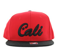 SM346 Cali Cotton Snabpack Cap (Red & Black)