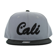 SM346 Cali Cotton Snabpack Cap (Grey & Black)