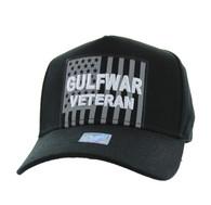 VM778 American USA Gulf War Veteran Velcro Cap (Solid Black)