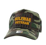 VM778 American USA Gulf War Veteran Velcro Cap (Solid Military Camo)