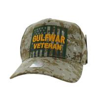 VM778 American USA Gulf War Veteran Velcro Cap (Solid Digital Camo)