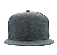 SP1622 Blank Cotton Snapback Cap (Solid Charcoal)