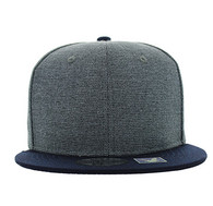 SP1622 Blank Cotton Snapback Cap (Charcoal & Navy)
