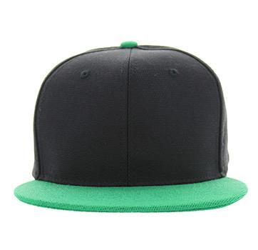 SP1622 Blank Cotton Snapback Cap (Black   Kelly Green) - Ace Cap dc8f69547d3