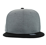 SP1622 Blank Cotton Snapback Cap (Light Grey & Black)