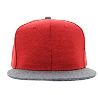 SP1622 Blank Cotton Snapback Cap (Red & Grey)