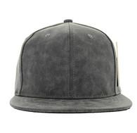 SP007 Blank Snapback Cap (Solid Grey PU)